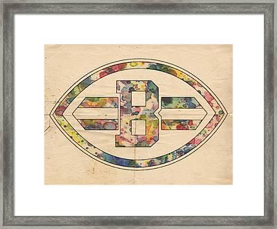 Cleveland Browns Logo Art Framed Print