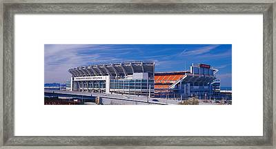 Cleveland Browns Stadium Cleveland Oh Framed Print by Panoramic Images