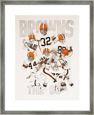 Cleveland Browns - The 60's Framed Print