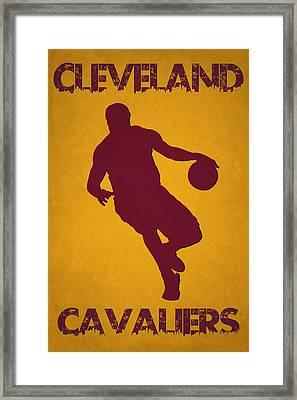 Cleveland Cavaliers Lebron James Framed Print by Joe Hamilton