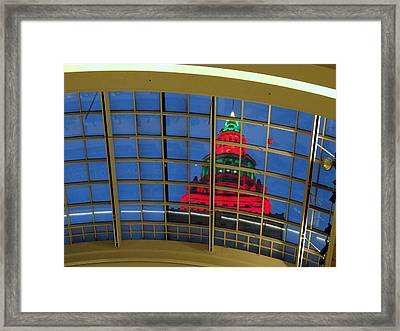 Cleveland Christmas Tower Framed Print