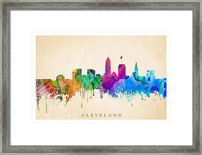 Cleveland Cityscape Framed Print