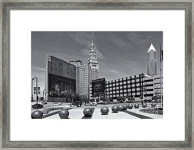 Cleveland Downtown II Framed Print by Clarence Holmes