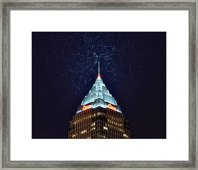 Cleveland Electrified Framed Print by Frozen in Time Fine Art Photography