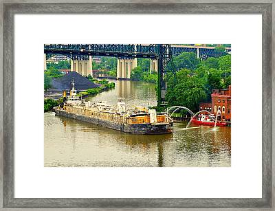 Cleveland Fire Department Framed Print by Frozen in Time Fine Art Photography