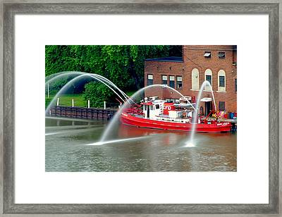 Cleveland Firehouse Framed Print by Frozen in Time Fine Art Photography