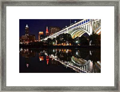 Cleveland Flats Framed Print by Frozen in Time Fine Art Photography