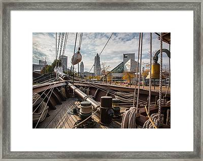 Cleveland From The Deck Of The Peacemaker Framed Print by Dale Kincaid