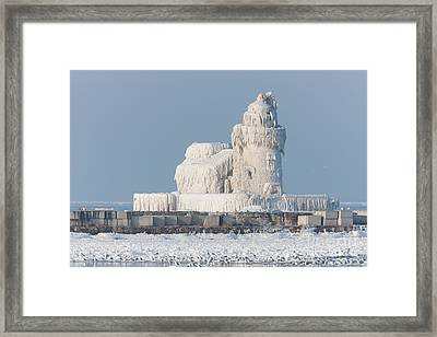 Cleveland Harbor West Pierhead Light Framed Print by Clarence Holmes