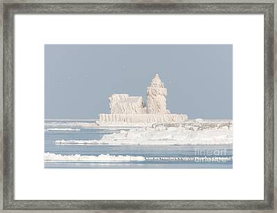 Cleveland Harbor West Pierhead Light II Framed Print by Clarence Holmes