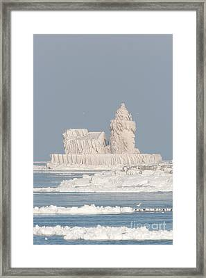 Cleveland Harbor West Pierhead Light IIi Framed Print by Clarence Holmes