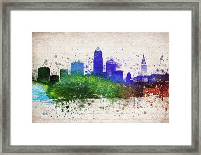 Cleveland In Color Framed Print by Aged Pixel