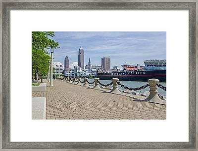 Cleveland Lake Front Framed Print