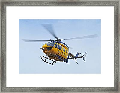 Cleveland Metro Life Flight Framed Print by Frozen in Time Fine Art Photography