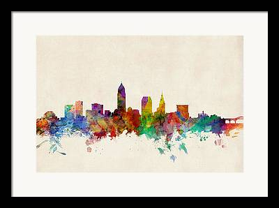 Cleveland Framed Prints