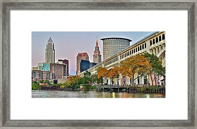 Cleveland Panorama Framed Print