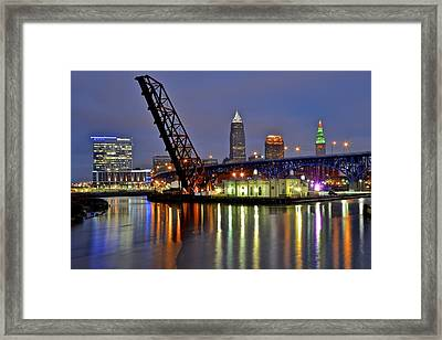 Cleveland Rainbow Framed Print by Frozen in Time Fine Art Photography