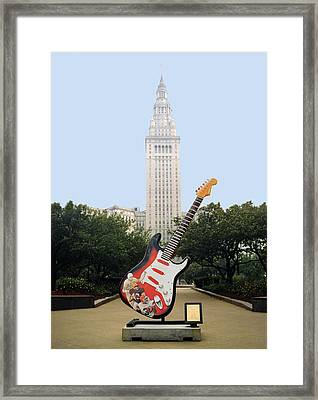 Framed Print featuring the photograph Cleveland Rocks by Terri Harper