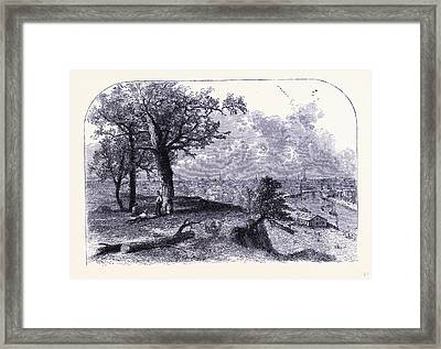 Cleveland Seen From Scrantons Hill United States Of America Framed Print by American School