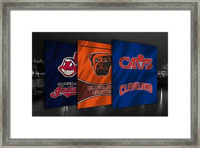 Cleveland Sports Teams Framed Print by Joe Hamilton
