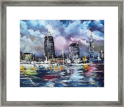 Cleveland Thunderstorm Framed Print by Alfred Stringer