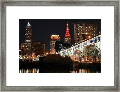 Cleveland Up Close Framed Print by Frozen in Time Fine Art Photography