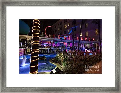 Clevelander South Beach Framed Print by Anthony Festa