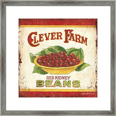 Clever Farms Beans Framed Print