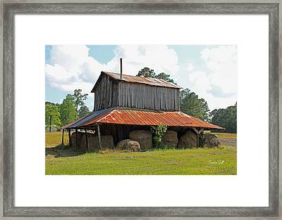 Clewis Family Tobacco Barn Framed Print by Suzanne Gaff