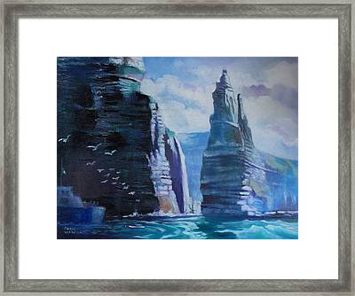 Clffs  Of Mohar Ireland Framed Print