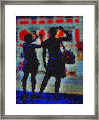 Click Click Framed Print by Mark Brooks