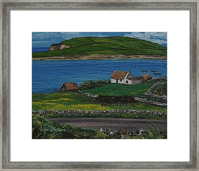 Clifden Thatched Cottage Sky Road Connemara Ireland Framed Print