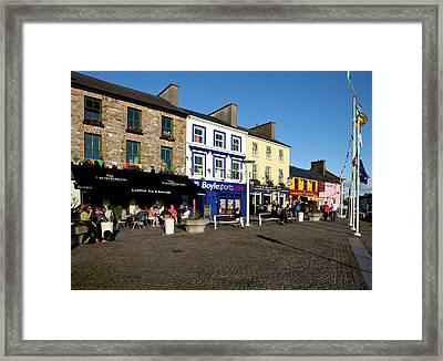 Clifden Town Centre And Contemporary Framed Print by Panoramic Images