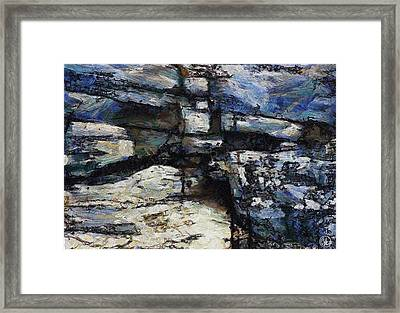 Cliff Abstract Framed Print by Gun Legler