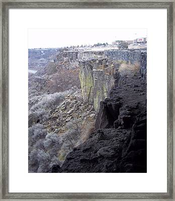 Cliff Framed Print by Angela Stout