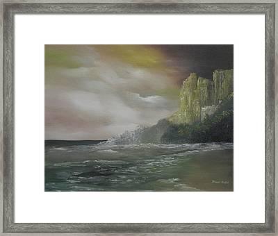 Cliff Bay Framed Print