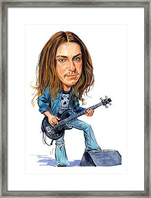 Cliff Burton Framed Print by Art