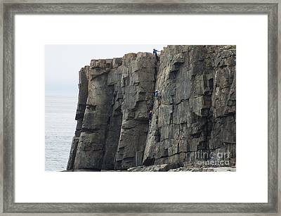 Cliff Climbers Framed Print