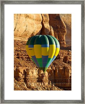 Cliff Coasting Framed Print by Feva  Fotos