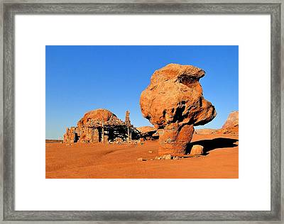 Cliff Dweller Home Framed Print by Cindy Croal