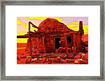 Cliff Dwellers In Red Framed Print