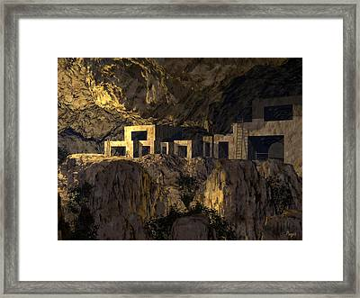 Cliff Dwellers Framed Print by John Pangia