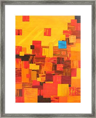 Cliff Dwellings Framed Print by Brenda Helt