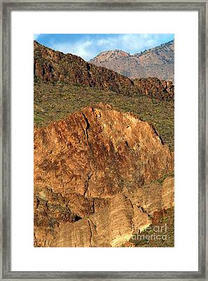 Cliff Erosion With Slope Failure Framed Print