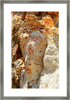 Cliff Face Framed Print by Tap On Photo