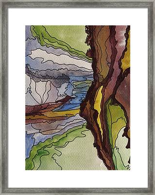 Cliff Face Views Framed Print