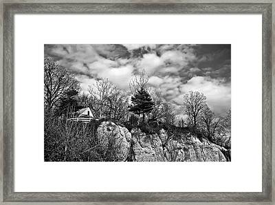 Framed Print featuring the photograph Cliff House B/w by Greg Jackson