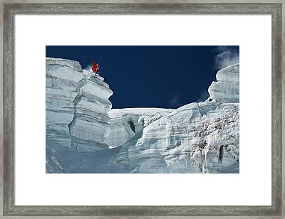 Cliff Jumping Framed Print