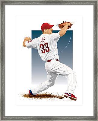 Cliff Lee Framed Print by Scott Weigner