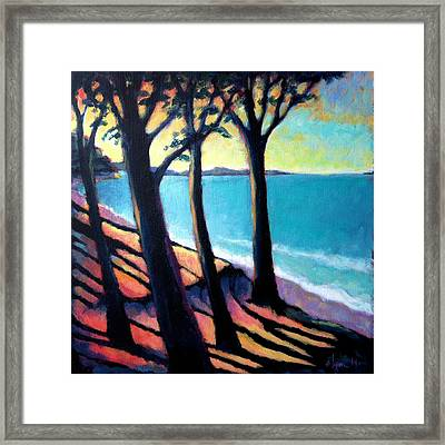 Framed Print featuring the painting Cliff Lookout by Angela Treat Lyon
